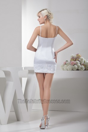 Sexy White Short/Mini Spaghetti Strap Party Cocktail Dresses
