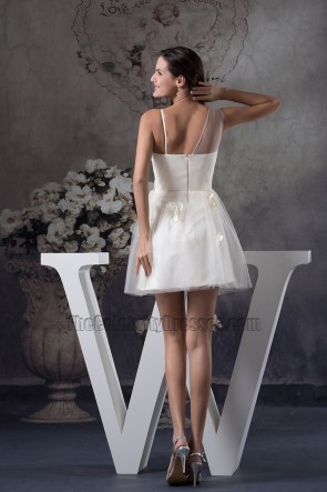 Short Ivory A-Line organza Party Homecoming Dresses