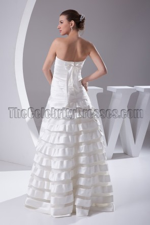 Elegant Strapless A-Line Wedding Dresses