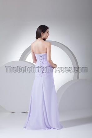 Elegantes trägerloses Schatz Chiffon Abendkleid Ballkleid