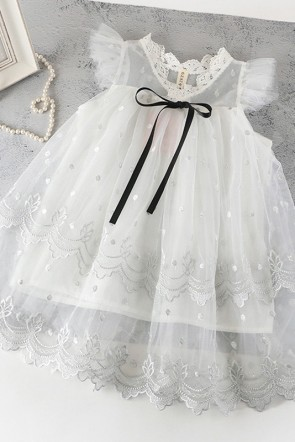 A-line Tulle Flower Girl Dress