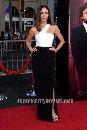 Abigail Spencer White And Black Evening Dress 'This Is Where I Leave You' LA Premiere
