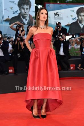 Alessandra Ambrosio Strapless Formal Dress 'La Rancon De La Gloire' Premiere
