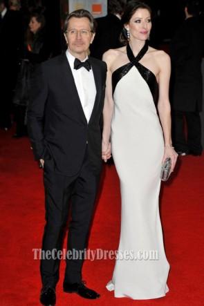 Alexandra Edenborough Halter Evening Dress BAFTA Awards Red Carpet