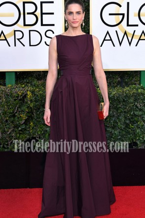Amanda Peet Lange Backless Abend Abendkleid 2017 Golden Globes