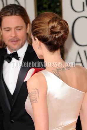 Angelina Jolie ein Schulter-Abschlussball-Abend-Kleid 2012 goldene Globen