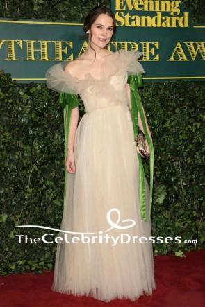 Elsa Hosk Light Sky Blue Off-the-shoulder High Slit Ball Gown 2017 Cannes Film Festival