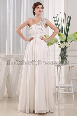 A-Line Ivory Sequined Prom Formal Dresses Evening Gown