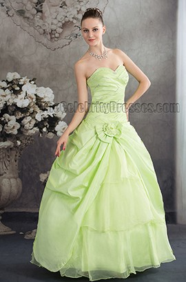 A-Line Strapless Floor Length Sweetheart Evening Formal Dresses