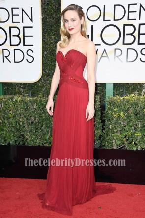 Brie Larson Red Beaded Abendkleid 74. Jährliche Golden Globe Awards Celebrity Kleider