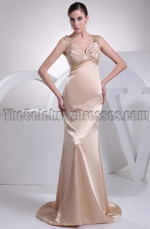 Sexy Champagne Evening Formal Dress Prom Gown
