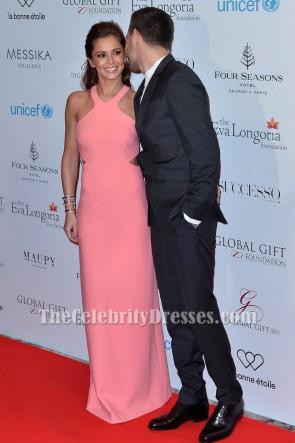 Cheryl Fernandez-Versini Rosa Ausschnitt Abendkleid Globale Geschenk-Gala