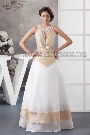 Chic A-Line Floor Length Sleeveless Formal Dress Prom Gown