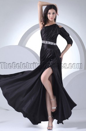 Black One Sleeve Formal Dress Evening Prom Gowns