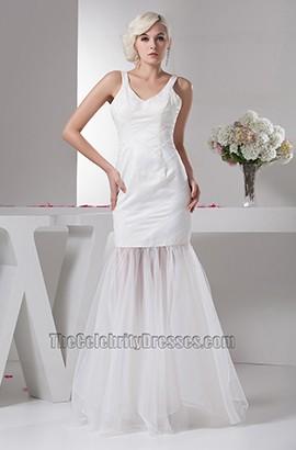 Schicke bodenlange Trompete / Meerjungfrau Informelles Brautkleid