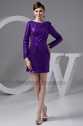 Chic Long Sleeve Regency Sequins Party Graduation Dresses