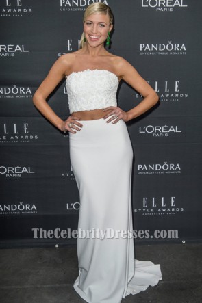 Promi Christiane Schaumburg-Müller Weiß 2 Stück Abendkleid ELLE Style Awards TCD6178