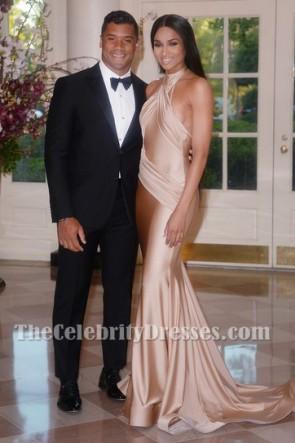 Ciara's Weißes Haus-Zustand-Abendessen-Halter-Abend-Abschlussball-Kleid TCD6248