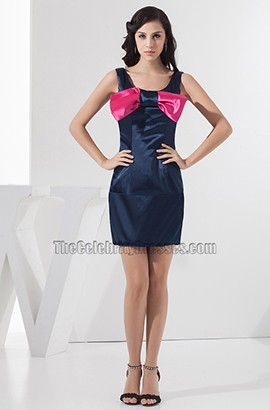 Cute Short Mini Party Holiday Homecoming Dress With A Bow