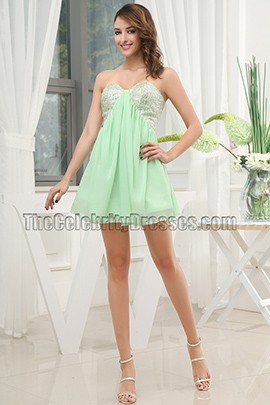 Cute Strapless A-Line Party Dress Homecoming Dresses