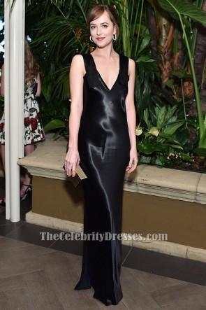 Dakota Johnson Schwarzes Abendkleid 2015 ELLE Frauen in Hollywood Awards TCD6360