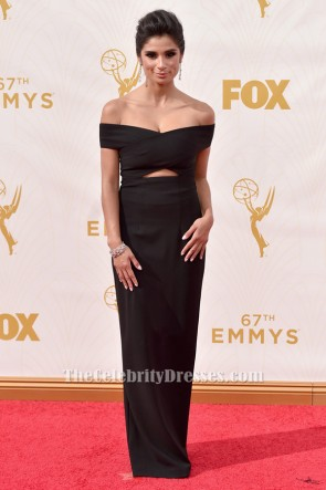 Diane Guerrero Schwarzes Formales Kleid 67. Emmy Award Roter Teppich