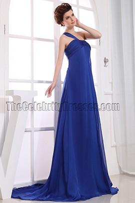 Discount Royal Blue One Shoulder Prom Dress Formal Dresses