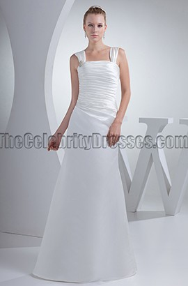 Discount Satin Floor Length Wedding Dresses