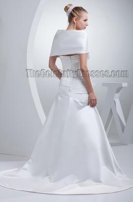 Elegant Off-The-Shoulder A-Line Wedding Dress Bridal Gown