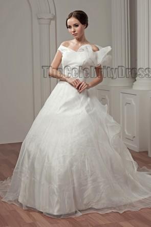 Elegant Off-the-Shoulder A-Line Wedding Dresses