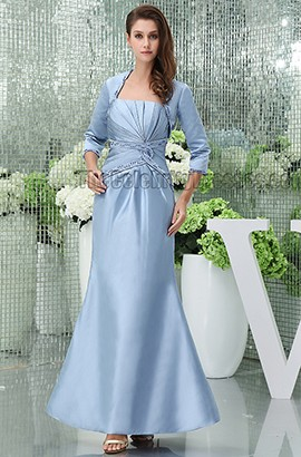 Elegant Strapless Beaded Floor Length Mother Of Bride Dress With A Wrap