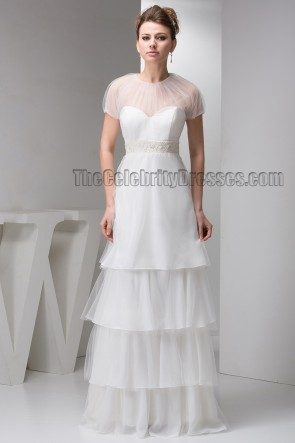 Floor Length A-Line Beaded Bridal Gown Wedding Dresses