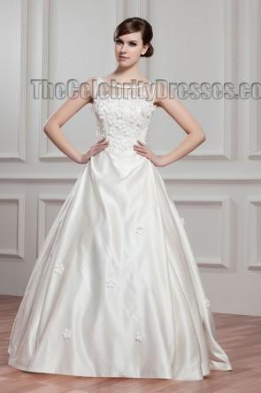 Gorgeous Floor Length A-Line Wedding Dress Bridal Gown