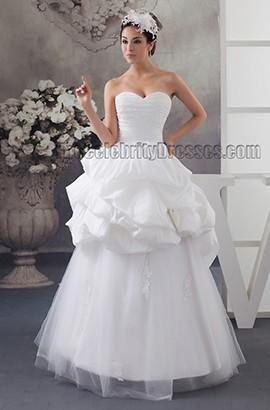 Wunderschönes trägerloses Schatz bodenlanges Brautkleid