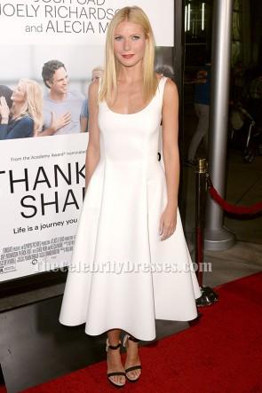"""Gwyneth Paltrow weißes Cocktailkleid """"Dank für das Teilen"""" Hollywood Premiere"""