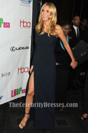 Heidi Klum Schwarze Einhülse Abendkleid 2016 Hollywood Beauty Awards