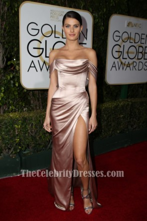 Isabeli Fontana 2016 Golden Globes Off-the-Schulter Abendkleid