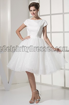 Chic Ivory A-Line Short Cocktail Graduation Party Dresses