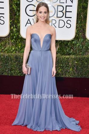 Joanne Froggatt blaues Abendkleid Golden Globe Awards 2016 Roter Teppich
