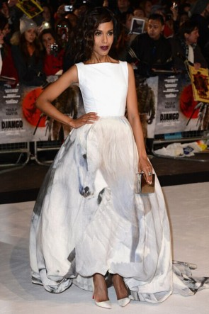 Kerry Washington A-Line Festliche Kleidung Django Unchained London Premiere TCD6393