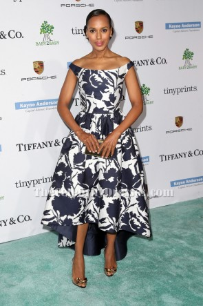 Kerry Washington Off-the-Shoulder-Abschlussball-Kleid 2014 Baby2Baby Gala TCD6000