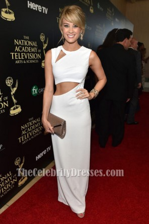 Kim Matula White Cut Out Evening Dress 41st Annual Daytime Emmy Awards TCD6322