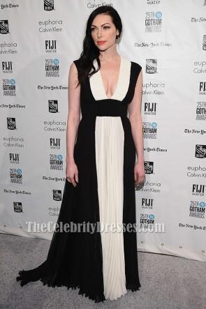 Laura Prepon weißes und schwarzes formales Kleid 25. IFP Gotham Independent Film Awards
