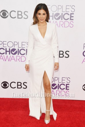 Liz Hernandez People's Choice Awards 2017 Weißes Langarm Formales Kleid