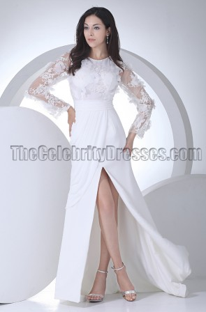 Discount Long Sleeve Brush Train Wedding Dresses
