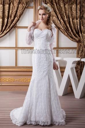 Mermaid /Trumpet Sweetheart Strapless Lace Wedding Dresses