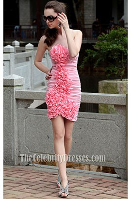Mini Pink Strapless Sweetheart Party Cocktail Dress
