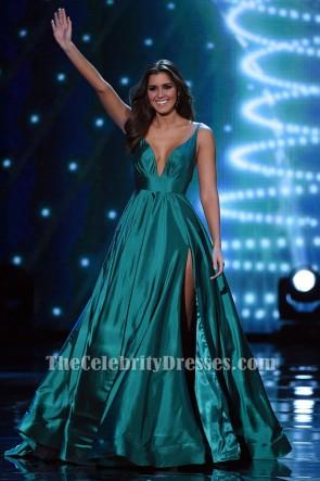 Paulina Vega Abendkleid 2015 Miss Universe Festzug Kleid