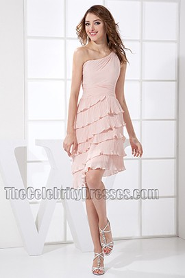 New Style Short One Shoulder Cocktail Dress Party Homecoming Dresses