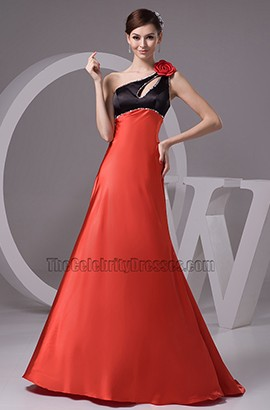 Classic One Shoulder Cut Out Evening Gown Formal Prom Dresses